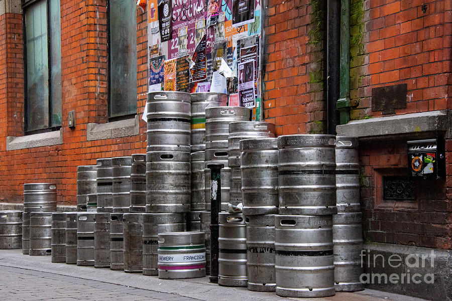 Dublin Photograph - Beer Cans by Bob Phillips