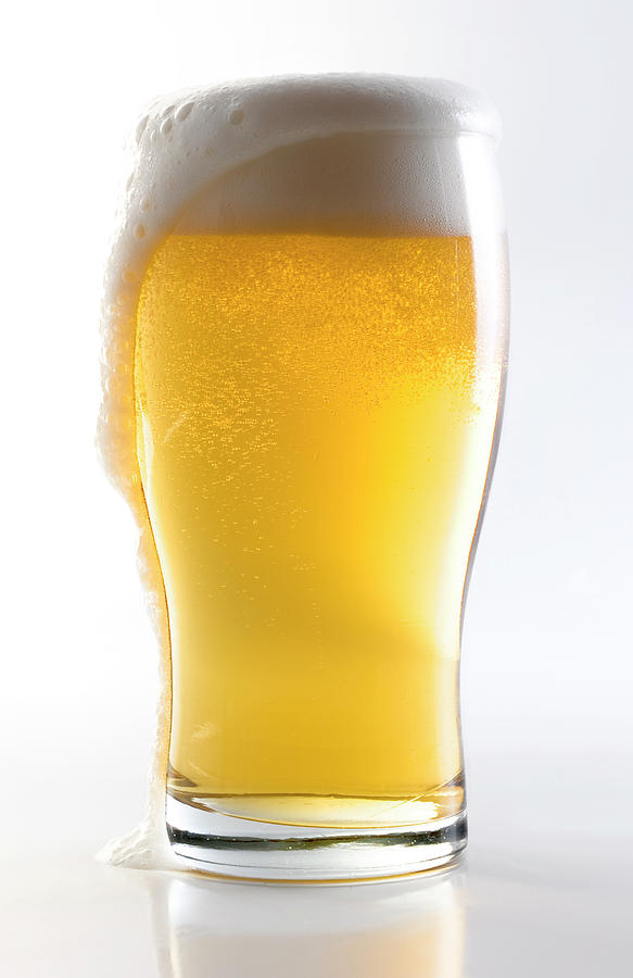 Beer Glass Wclipping Path Photograph by Carlosalvarez