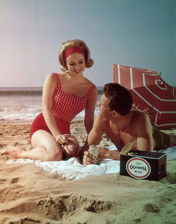 Beer On The Beach Photograph by Tom Kelley Archive