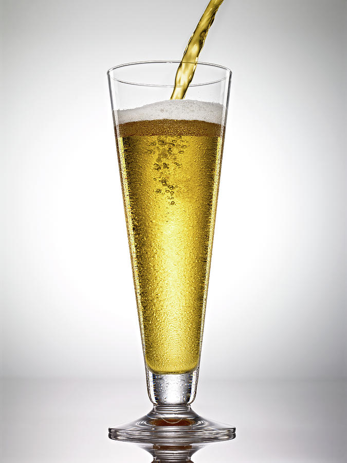 Beer On White Background Photograph by Bill Diodato