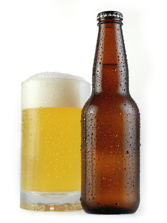 Beer On White Photograph by Lauripatterson