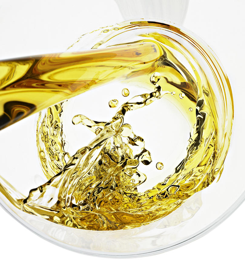 Beer Swirling Into Glass Photograph by Jack Andersen