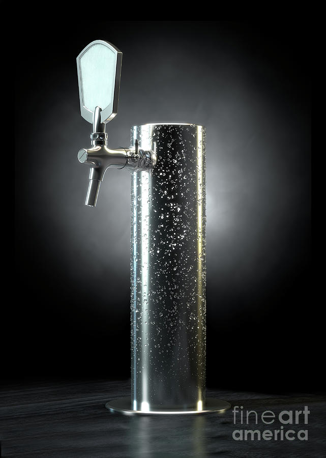 Beer Digital Art - Beer Tap Condensation by Allan Swart