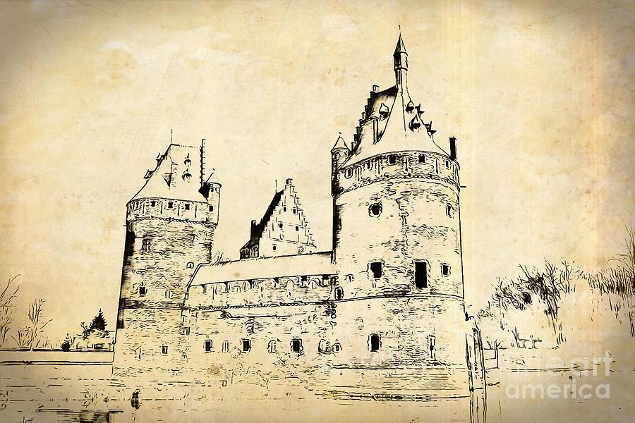 Beersel Castle Old by Jurgen Huibers