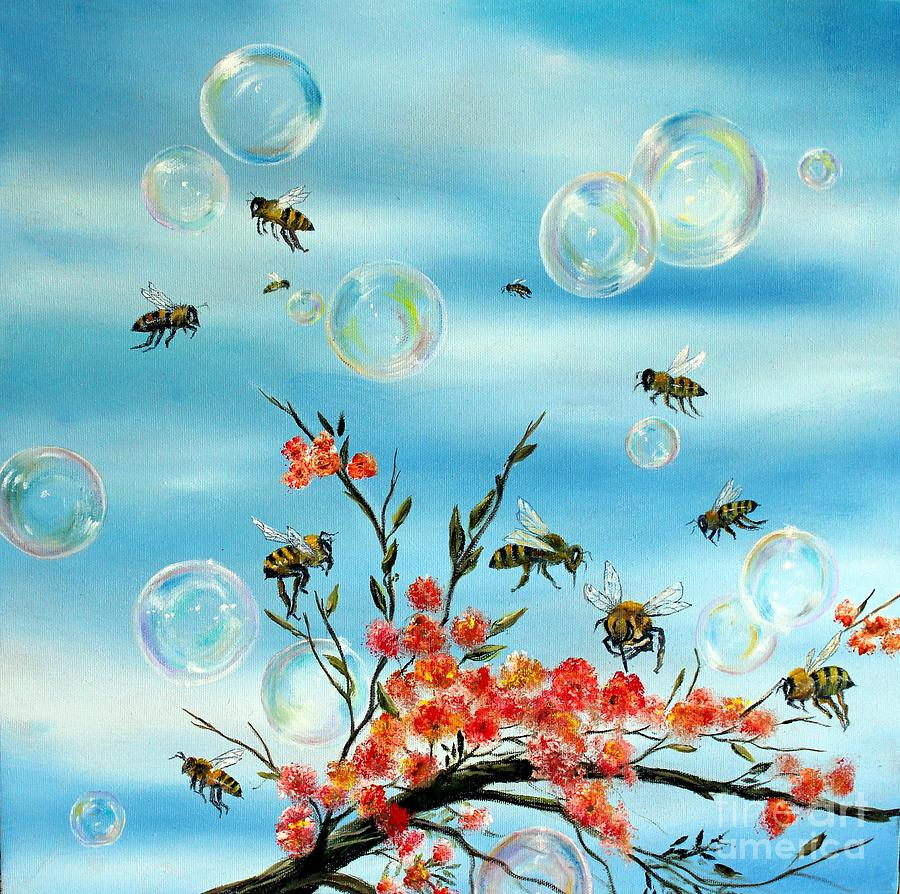 BEES AND BUBBLES by Anna-maria Dickinson