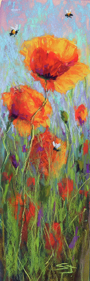 Bees and Poppies by Susan Jenkins