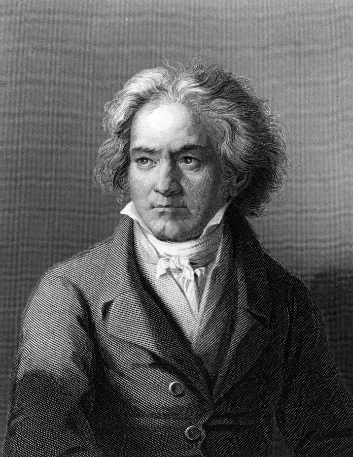 Beethoven Digital Art by Hulton Archive