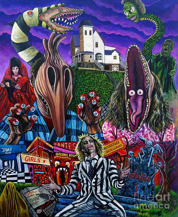 Beetlejuice Painting - Beetlejuice by Jose Mendez