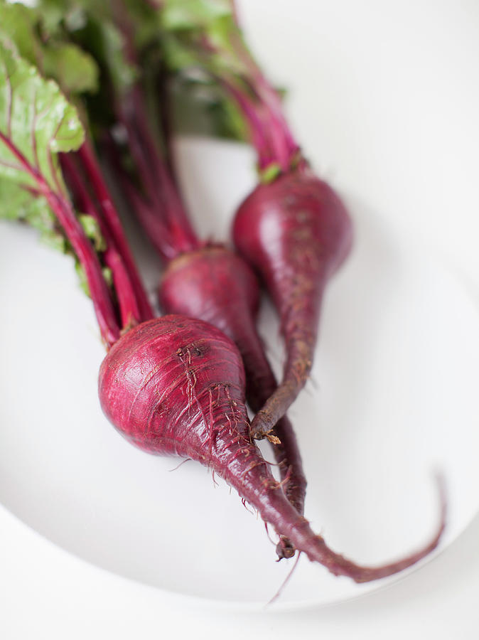 Beetroots On Plate, Studio Shot Photograph by Jessica Peterson