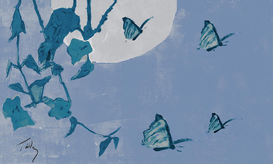 Butterfly Mixed Media - Before The Moon by Thomas Tribby