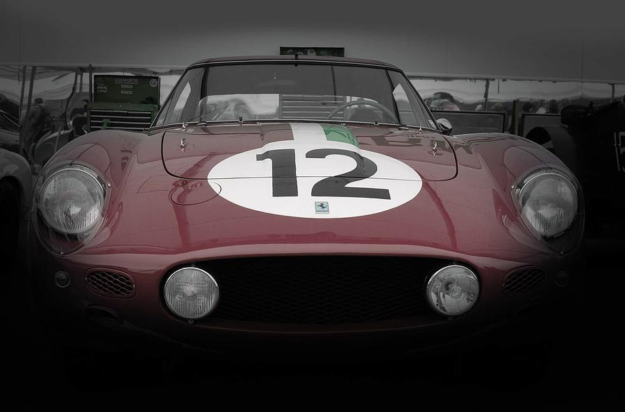 Ferrari Pyrography - Before The Race Begins by Naxart Studio