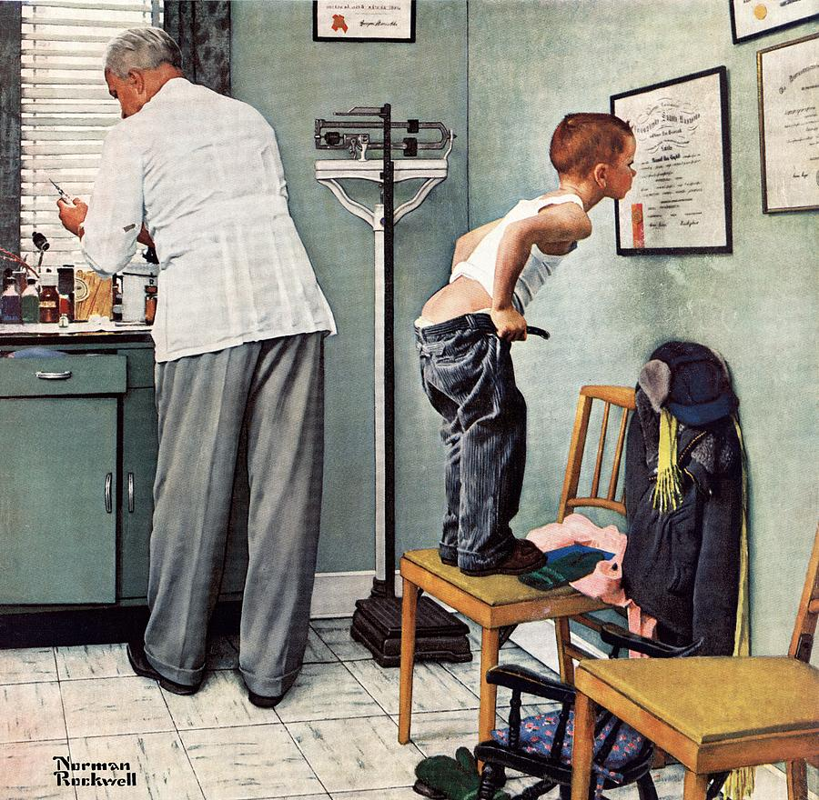 Bottoms Drawing - Before The Shot by Norman Rockwell
