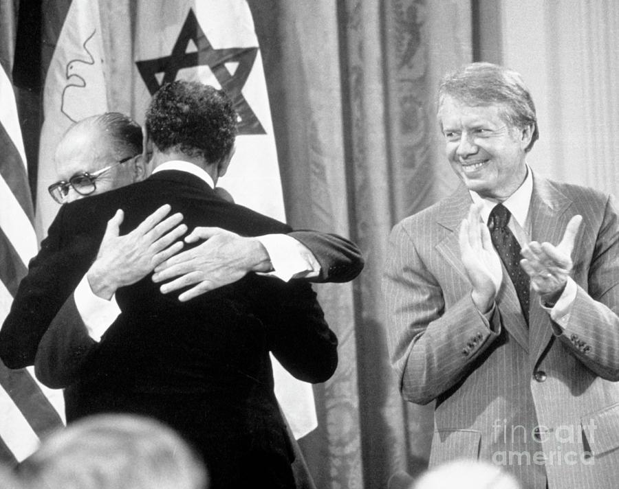 Begin, Sadat And Carter At White House Photograph by Bettmann