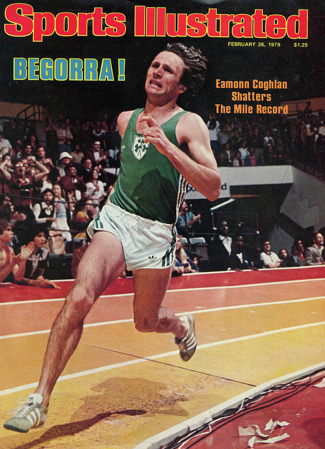 Begorra Eamonn Coghlan Shatters The Mile Record Sports Illustrated Cover Photograph by Sports Illustrated