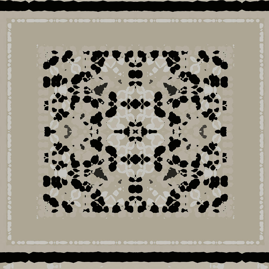 Beige Black Pattern by Judi Suni Hall