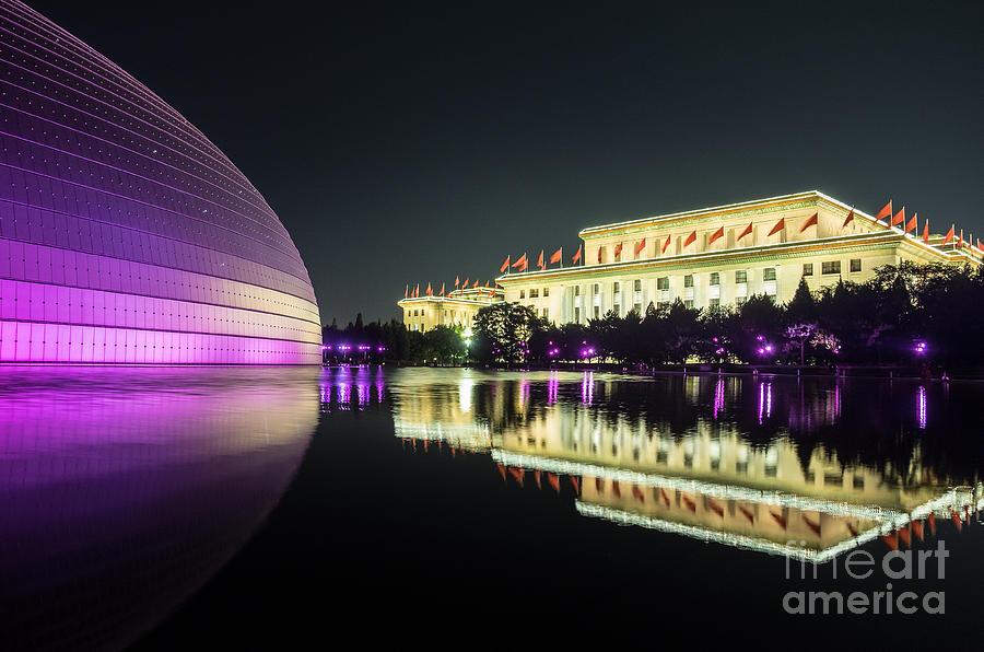 Beijing Art Center at Night by Iryna Liveoak
