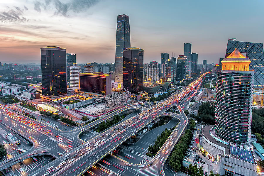 Beijing Central Business District Photograph by Dukai Photographer