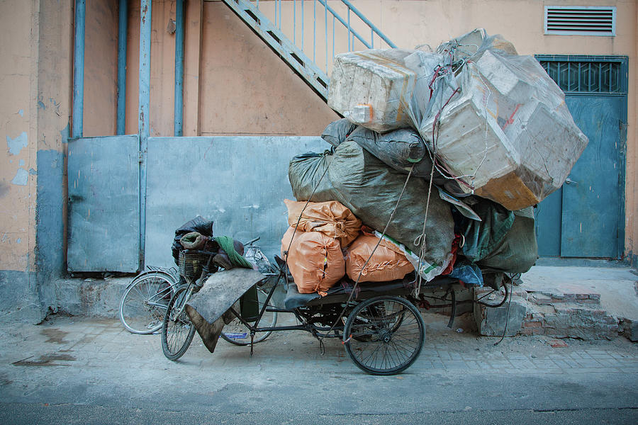 Beijing Tricycle With Trash Photograph by Nora Tejada