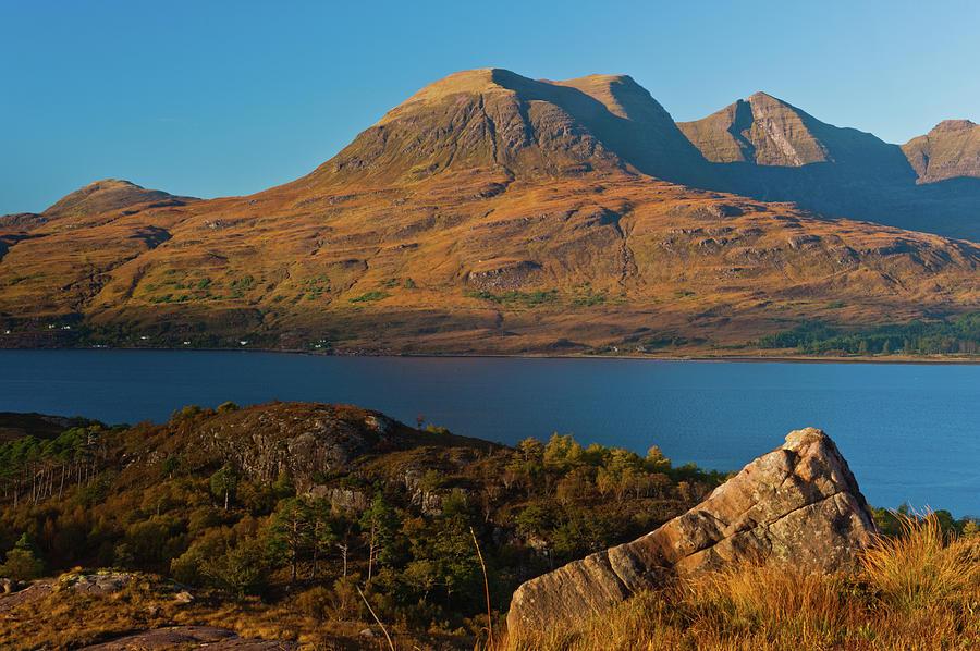 Beinn Alligin Photograph - Beinn Alligin And Loch Torridon by David Ross