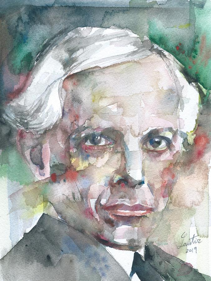 BELA BARTOK watercolor portrait by Fabrizio Cassetta