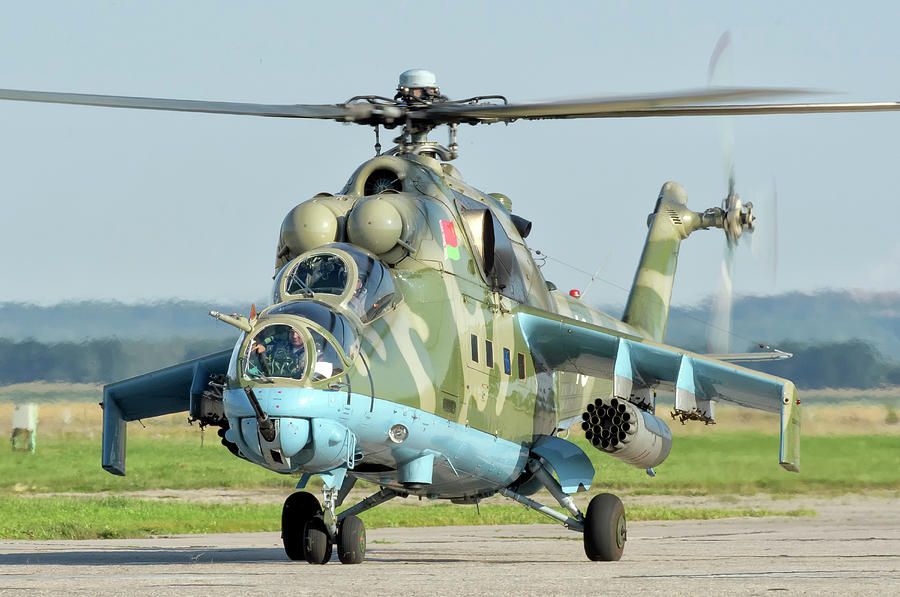 Belarusian Air Force Mi-24 Taxiing by Giovanni Colla