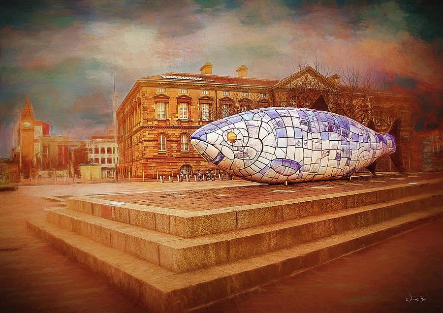 Big Digital Art - Belfast Big Fish by Norma Slack