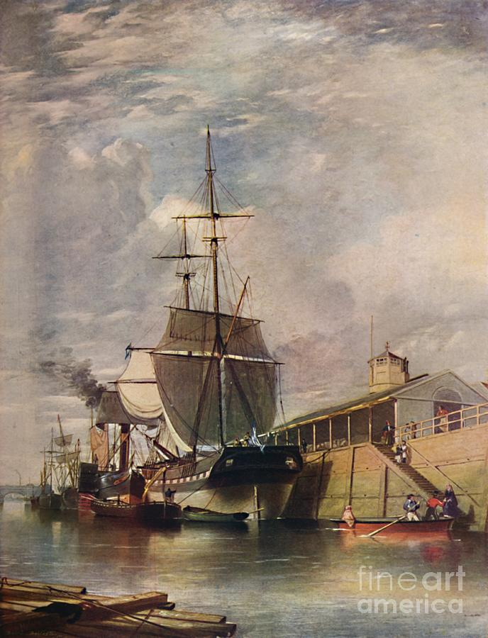 Belfast Harbour - Ferry Steps Drawing by Print Collector