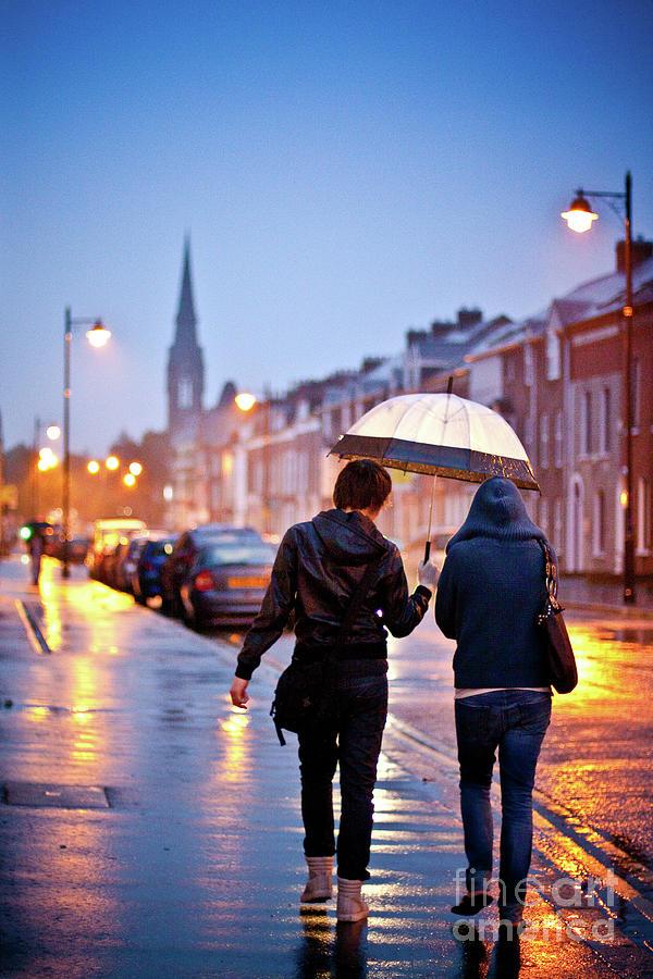 Belfast In Rain Photograph by Sergio Formoso