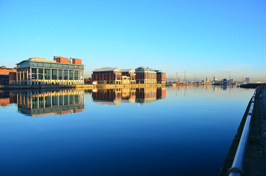 Belfast Lough Buildings Early Morning Photograph by David Dawson Image