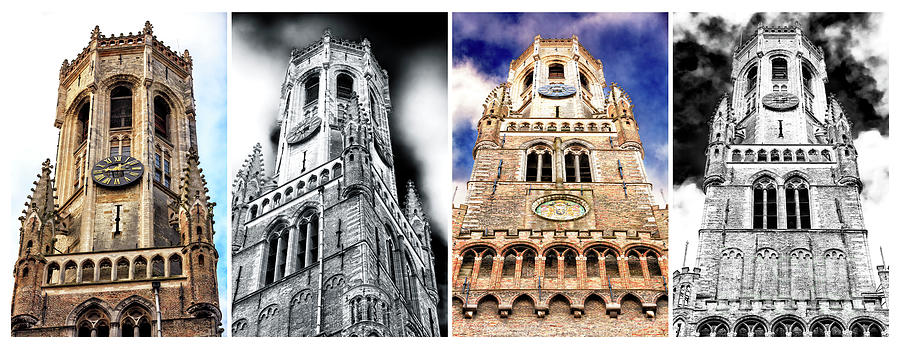 Belfry of Bruges Quadriptych by John Rizzuto