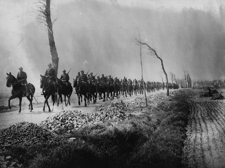 Belgian Cavalry Photograph by Hulton Archive