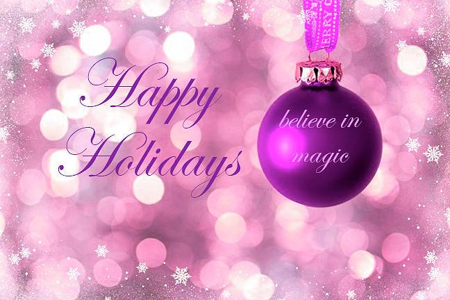 Believe In Magic Happy Holidays Design by Johanna Hurmerinta
