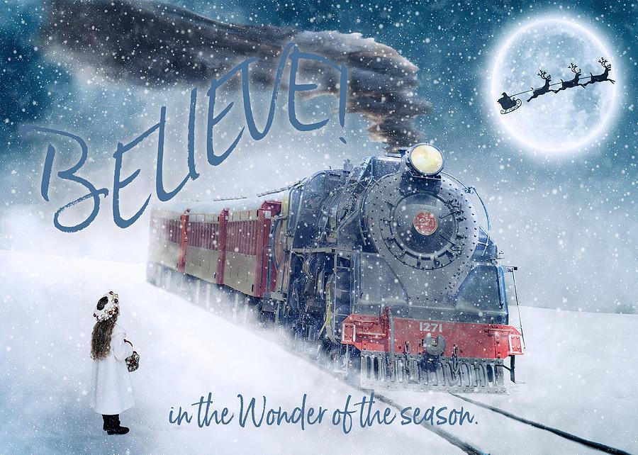 Believe in the Wonder Holiday Card by Teresa Wilson