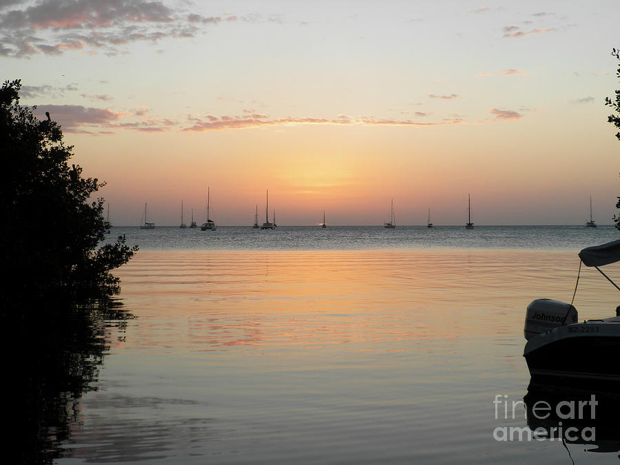 Belize Sunset by Randall Saltys