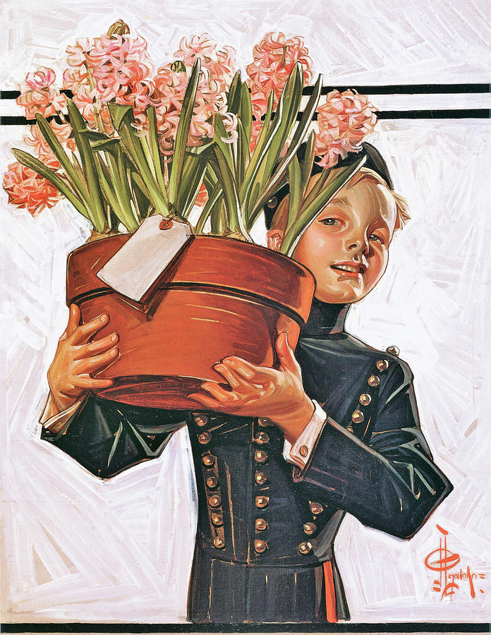 Joseph Christian Leyendecker Painting - Bell Boy With Hyacinth - Digital Remastered Edition by Joseph Christian Leyendecker