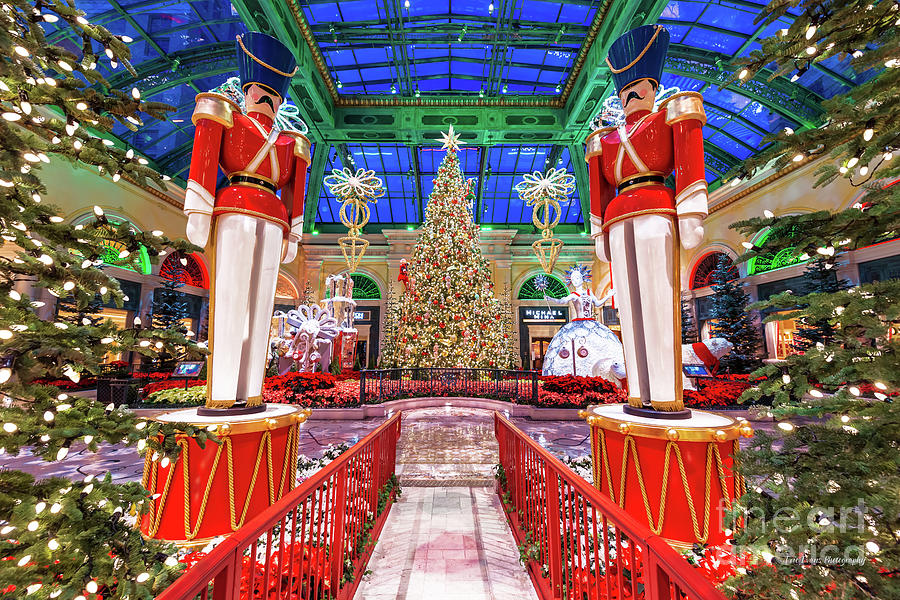 Bellagio Christmas Tree and Nutcrackers at Dawn 2017 Photograph