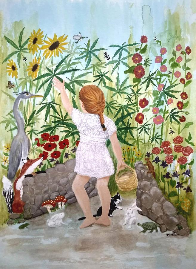 Garden Painting - Bellas Magic Garden by Vallee Johnson