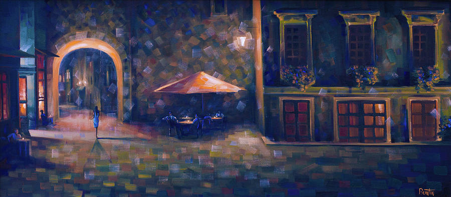 France Painting - Belle Bleu by Rob Buntin