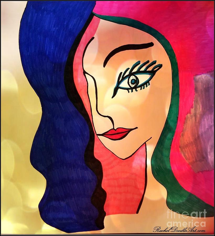 Doodle Mixed Media - Belle Dame by Rachel Maynard