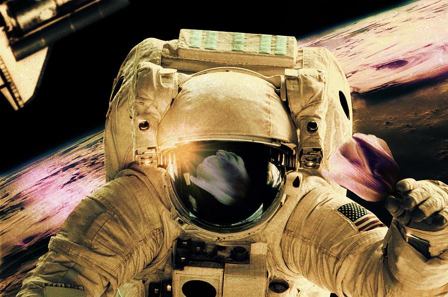 Outer Space Digital Art - Belle Fleur by Thomas Leparskas