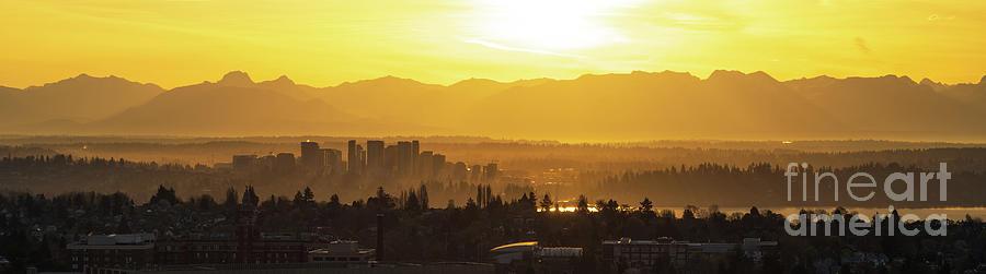 Bellevue Photograph - Bellevue Eastside Morning Light Atmosphere by Mike Reid