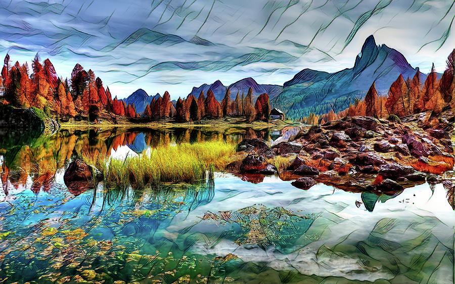 Abstract Photograph - Belluno Mountains by Robert Kinser