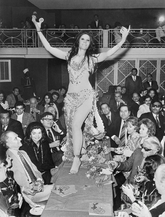 Belly Dancer At Cairo Party Photograph by Bettmann
