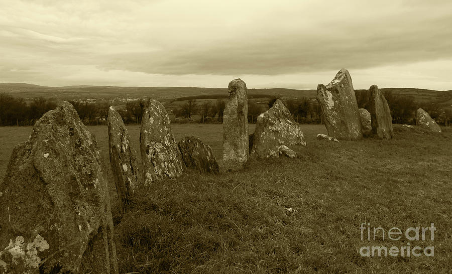 Beltany Stone Circle Donegal Tint by Eddie Barron