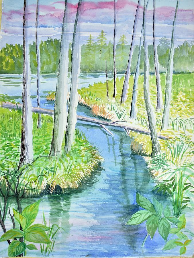 Verticals Painting - Bemidji Bog Walk Lost Keys by Tammy Nara