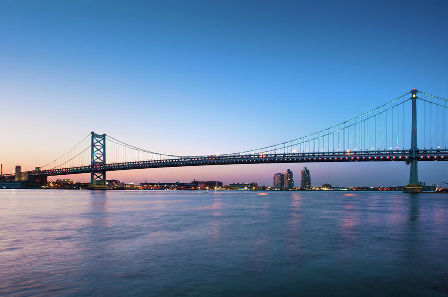 Ben Franklin Bridge Crossing The Photograph by David Zanzinger