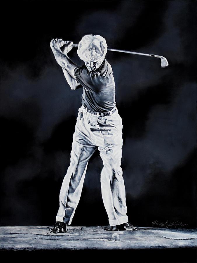 Ben Hogan Swing 1 Painting