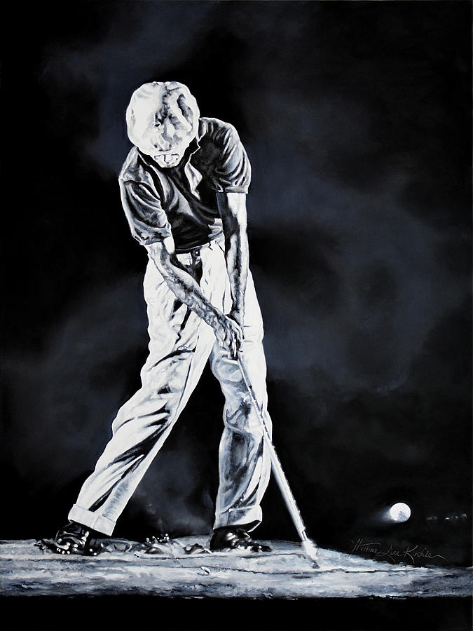 Ben Hogan Swing 3 Painting