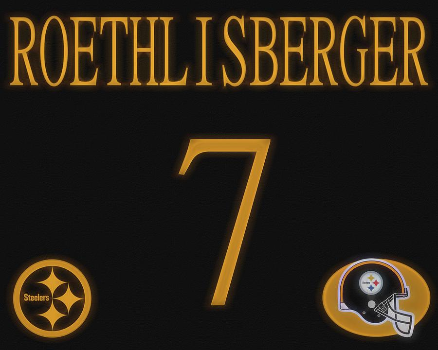 0ad0acea2 Ben Roethlisberger Jersey Mixed Media by Dan Sproul