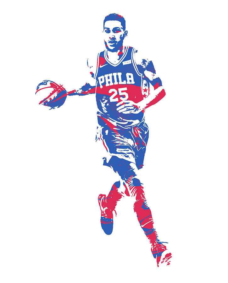 355c618adcb 76ers Mixed Media - Ben Simmons Philadelphia 76ers Pixel Art 52 by Joe  Hamilton